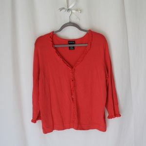 George plus size 2X raffle cardigan sweater top